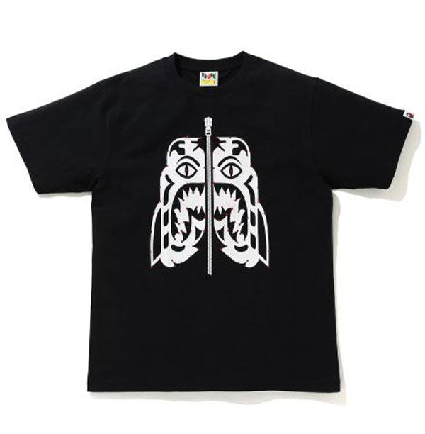 A BATHING APE CRYSTAL STONE TIGER TEE