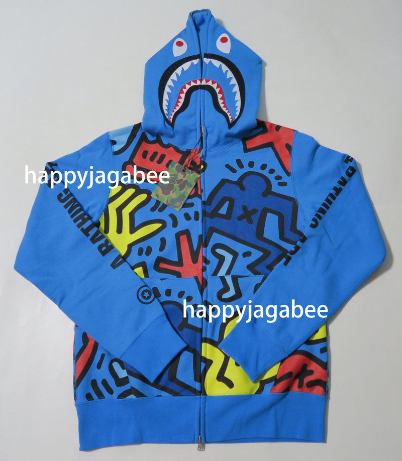 Sale! A BATHING APE x KEITH HARING FULL ZIP HOODIE #1 - happyjagabee store