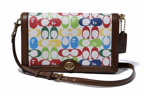 BAPE x COACH LADIES RILEY CROSSBODY Multi - happyjagabee store