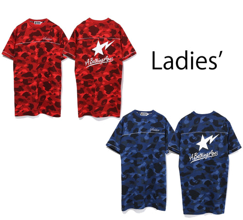 A BATHING APE LADIES' COLOR CAMO TEE ONEPIECE - happyjagabee store