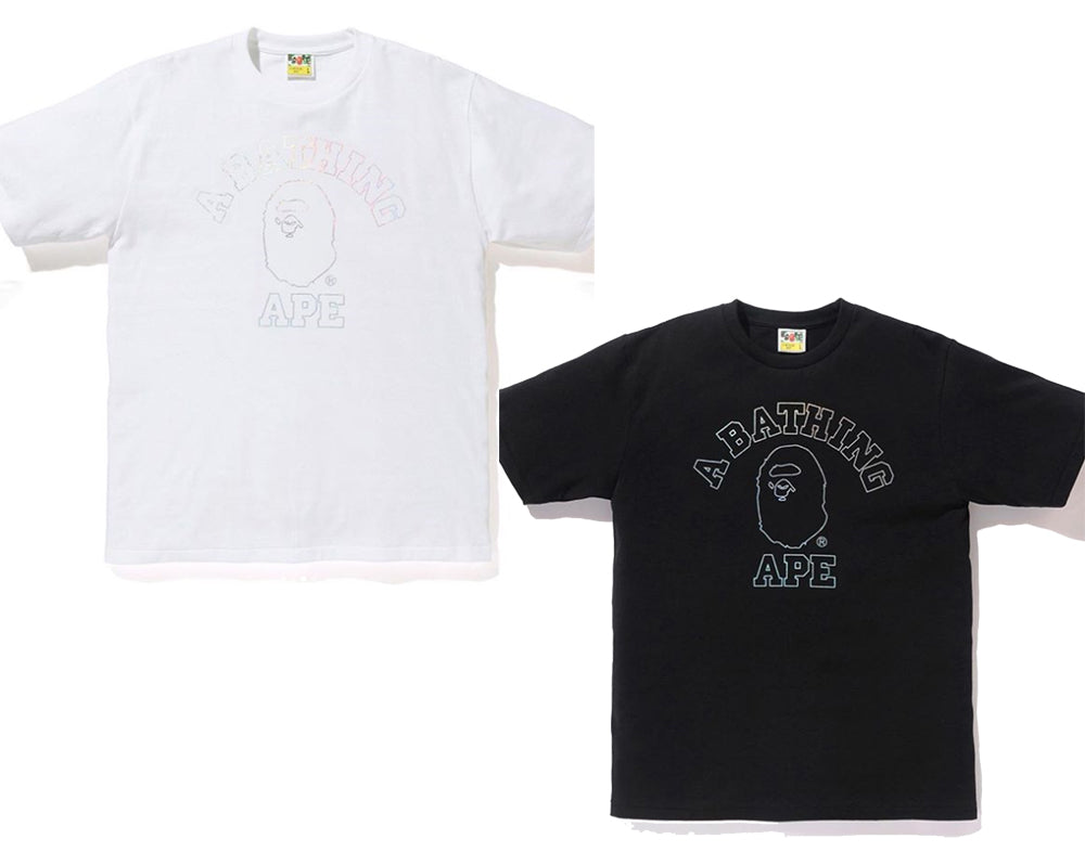 0e4b59e86 A BATHING APE HOLOGRAM COLLEGE TEE – happyjagabee store