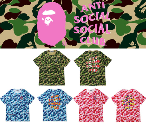 A BATHING APE BAPE x ASSC ABC CAMO TEE ANTI SOCIAL SOCIAL CLUB