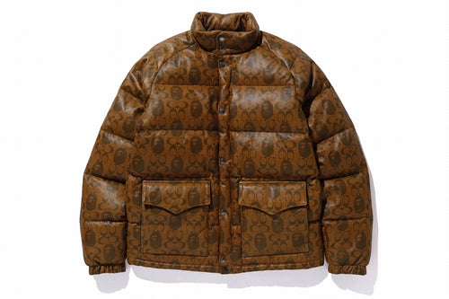 BAPE x COACH LEATHER DOWN JACKET - happyjagabee store