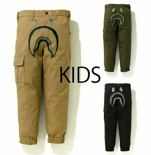 A BATHING APE BAPE KIDS SHARK JOGGER PANTS