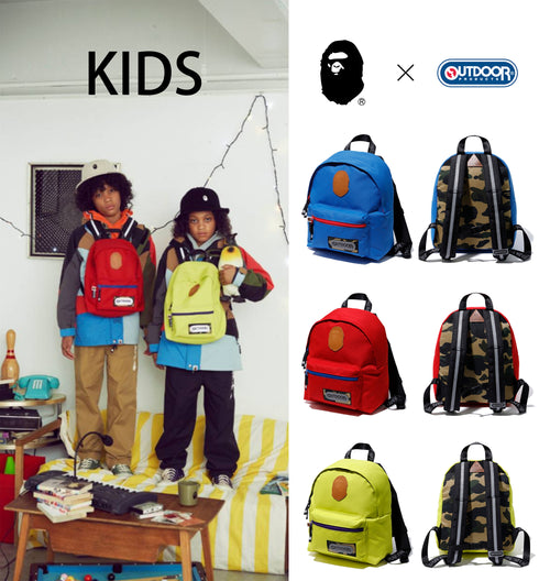 A BATHING APE BAPE × OUTDOOR PRODUCTS DAY PACK for KIDS