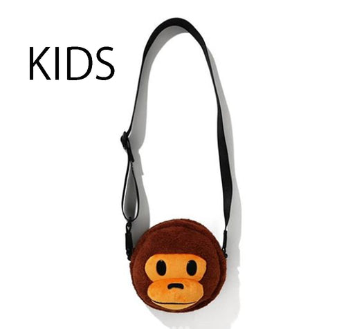 A BATHING APE BAPE KIDS BOA BABY MILO FACE SHOULDER BAG