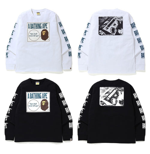 A BATHING APE BOOMBOX TAG L/S TEE - happyjagabee store