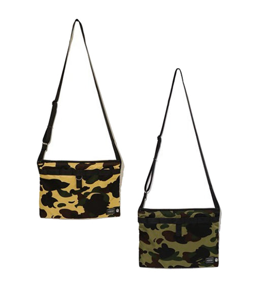 A BATHING APE PORTER 1ST CAMO CROSS BODY BAG SACOCHE