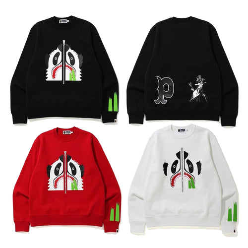 A BATHING APE PANDA WIDE CREWNECK
