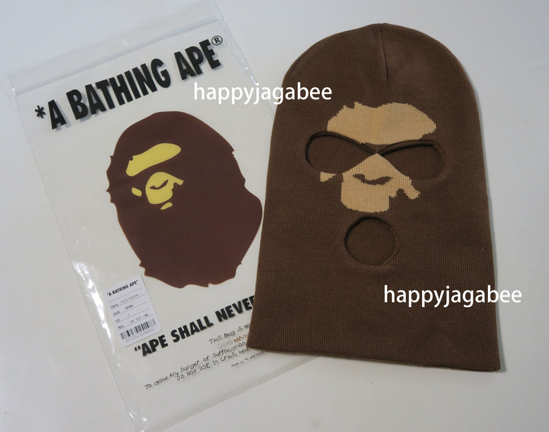 A BATHING APE APE HEAD BALACLAVA KNIT CAP - happyjagabee store