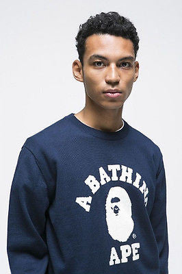 A BATHING APE COLLEGE INTARSIA KNIT - happyjagabee store