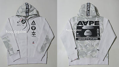 A BATHING APE AAPE Basic Zip Up HOODIE - happyjagabee store