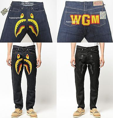 A BATHING APE Men's 1999 TYPE-02 SHARK PANTS - happyjagabee store