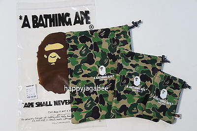 A BATHING APE ABC GADGETS POUCH SET Travel Collection - happyjagabee store