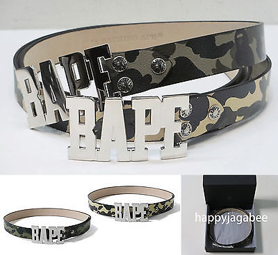 Sale! A BATHING APE 1ST CAMO LEATHER BELT - happyjagabee store