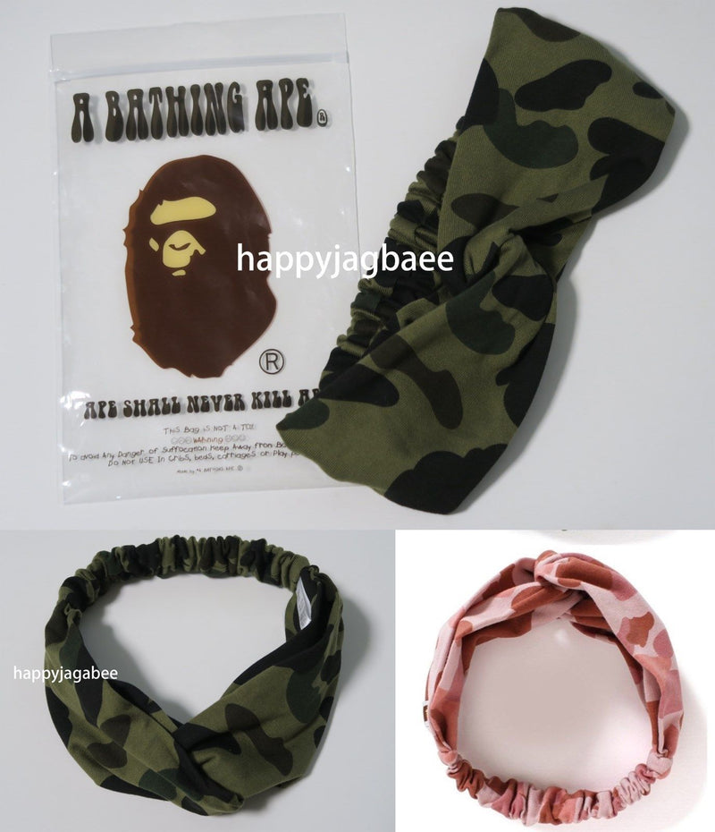 A BATHING APE Ladies' 1ST CAMO HAIR BAND - happyjagabee store