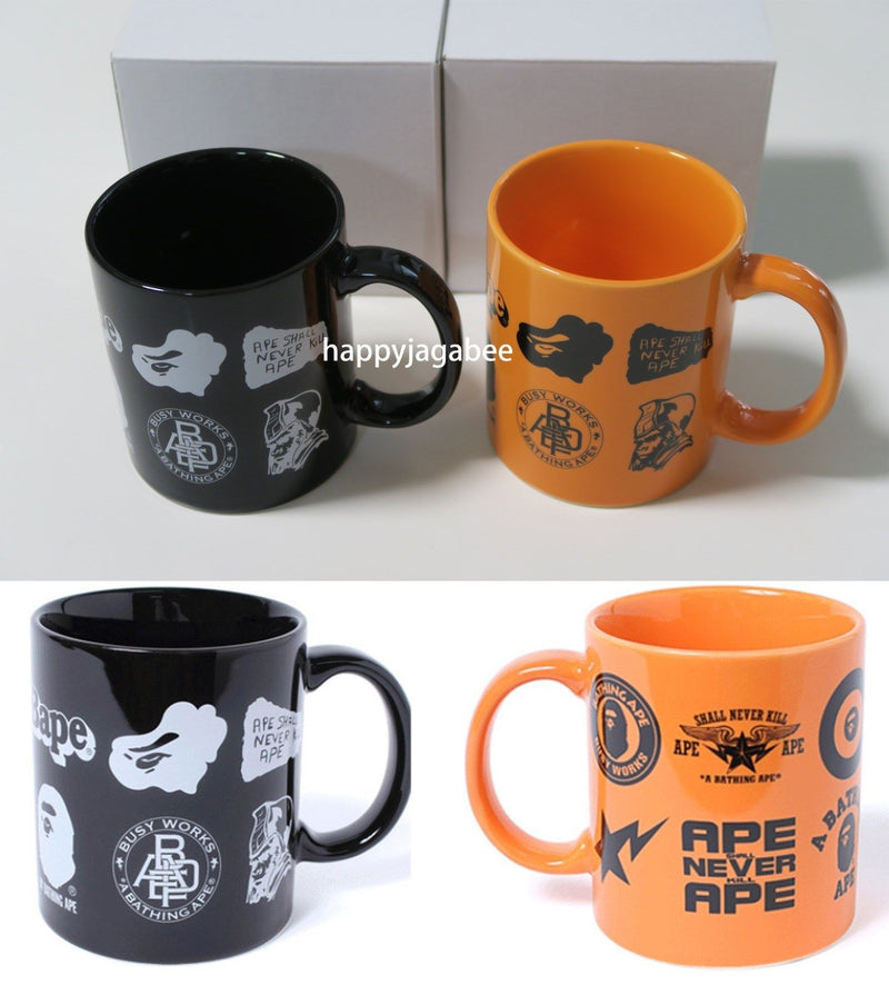 A BATHING APE Goods MONOGRAM MUG CUP 2colors NYC LOGO MULTI Japan New - happyjagabee store