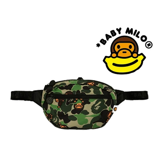 A BATHING APE BABY MILO STORE Goods ABC MILO CAMO FOLDABLE WAIST BAG