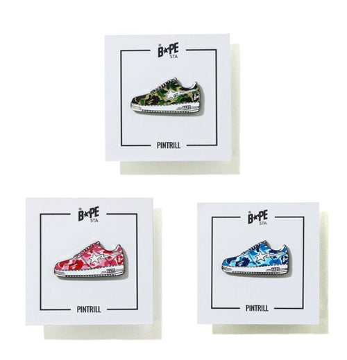 A BATHING APE ABC CAMO BAPE STA PINTRILL PINS