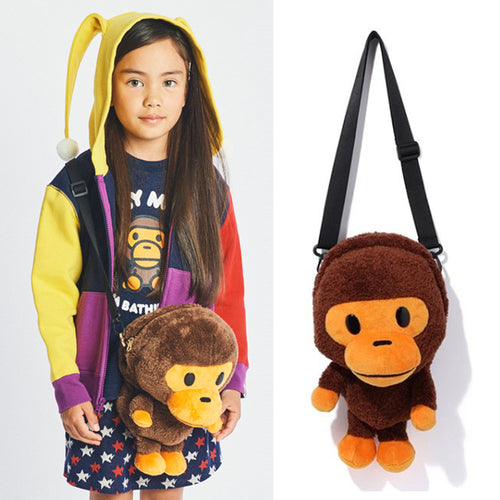 A BATHING APE KIDS BABY MILO PLUSH DOLL SHOULDER BAG