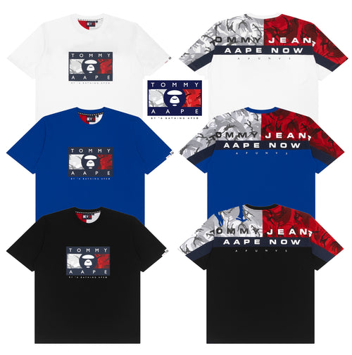 AAPE BY A BATHING APE x TOMMY JEANS TEE #1