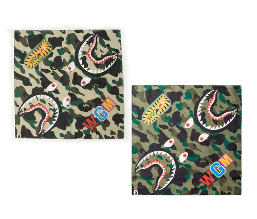A BATHING APE 1ST CAMO SHARK BANDANA