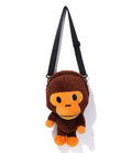 A BATHING APE KIDS BABY MILO PLUSH DOLL SHOULDER BAG - happyjagabee store