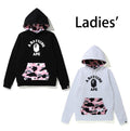 A BATHING APE LADIES' WARM UP CAMO PULLOVER HOODIE - happyjagabee store