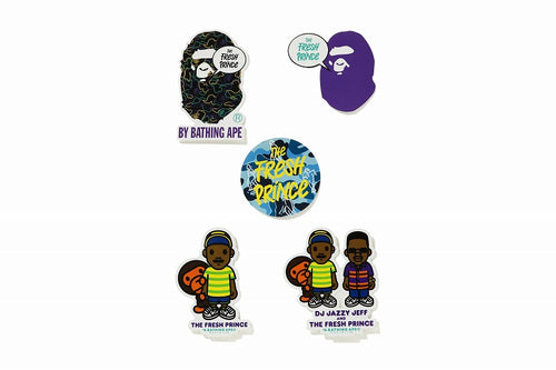 A BATHING APE x THE FRESH PRINCE STICKER SET