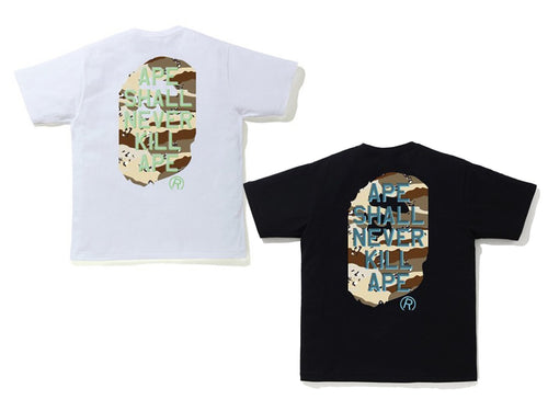 A BATHING APE DESERT CAMO APE HEAD TEE