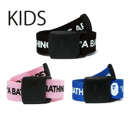 A BATHING APE BAPE KIDS LOGO GI BELT
