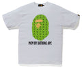 A BATHING APE MCM x BAPE BY BATHING TEE Green - happyjagabee store
