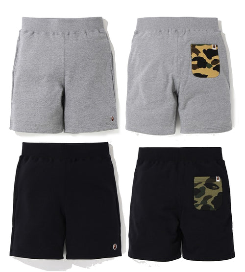 A BATHING APE ONE POINT SWEAT SHORTS