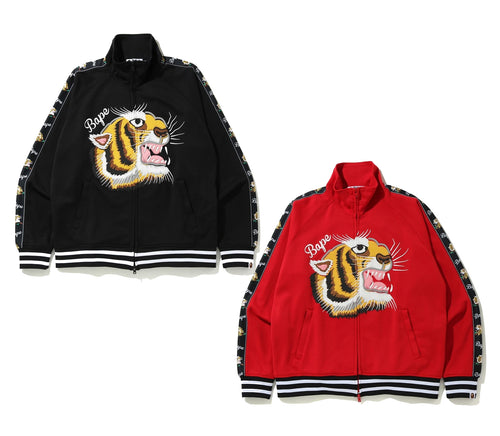 A BATHING APE TIGER JERSEY TOP