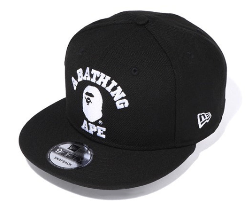 A BATHING APE COLLEGE NEW ERA SNAP BACK CAP - happyjagabee store