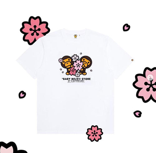A BATHING APE BABY MILO STORE SAKURA COLLECTION SAKURA TEE - happyjagabee store