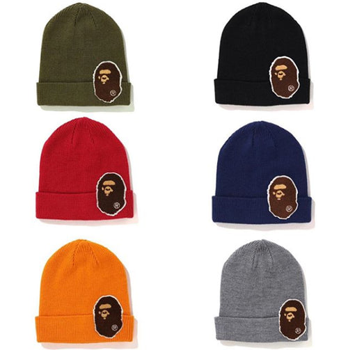 A BATHING APE BIG APE HEAD KNIT CAP