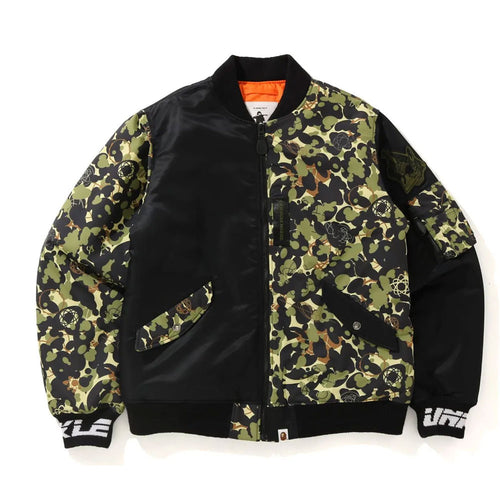 A BATHING APE Men's MO' WAX UNKLE x BAPE CAMO MA-1