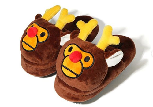 A BATHING APE BABY MILO STORE REINDEER SLIPPERS for Ladies' Kids