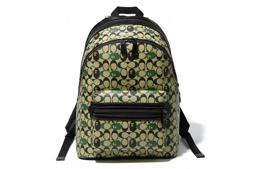 BAPE x COACH ACADEMY BACKPACK Green - happyjagabee store