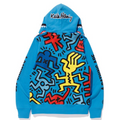 A BATHING APE x KEITH HARING FULL ZIP HOODIE #1 - happyjagabee store