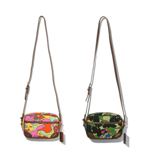 A BATHING APE Ladies' ABC CAMO FLOWER SHOULDER BAG
