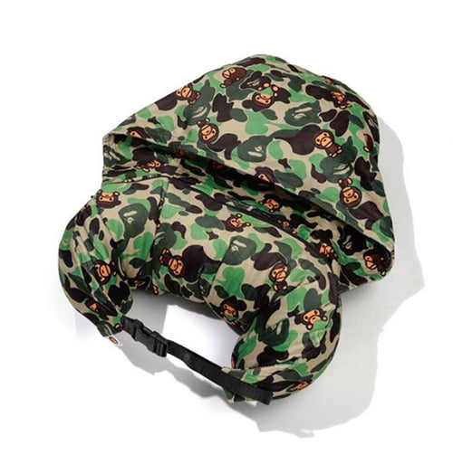 A BATHING APE BABY MILO STORE ABC TRAVEL PILLOW WITH HAT - happyjagabee store