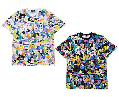 A BATHING APE MULTI CAMO BAPE TEE