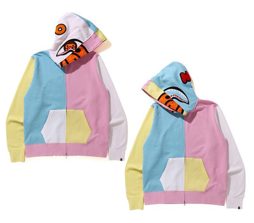 A BATHING APE MILO SHARK FULL ZIP HOODIE