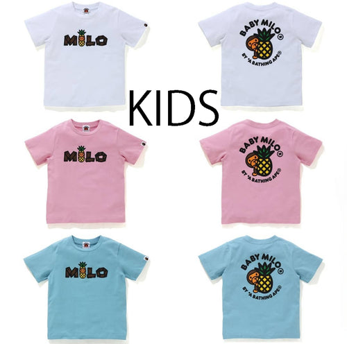 A BATHING APE BAPE KIDS BABY MILO PINEAPPLE TEE