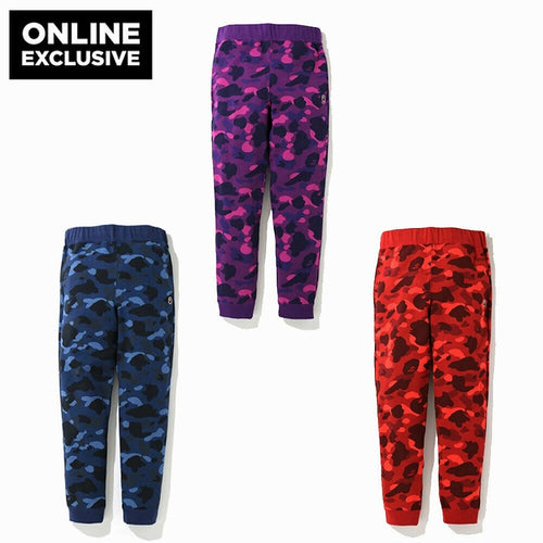 ONLINE EXCLUSIVE A BATHING APE COLOR CAMO SLIM SWEAT PANTS