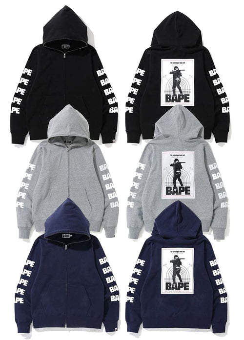A BATHING APE BAPE HUNTING FULL ZIP HOODIE
