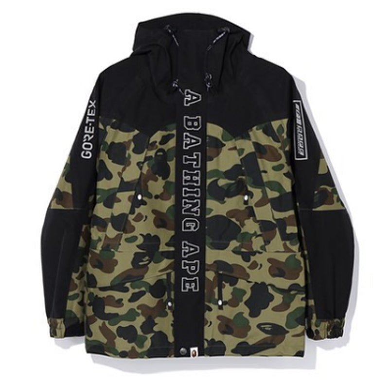 A BATHING APE GORE-TEX 1ST CAMO SNOWBOARD JACKET - happyjagabee store