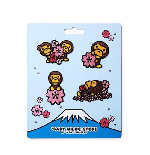 A BATHING APE BABY MILO STORE SAKURA EMBROIDERY STICKER - happyjagabee store